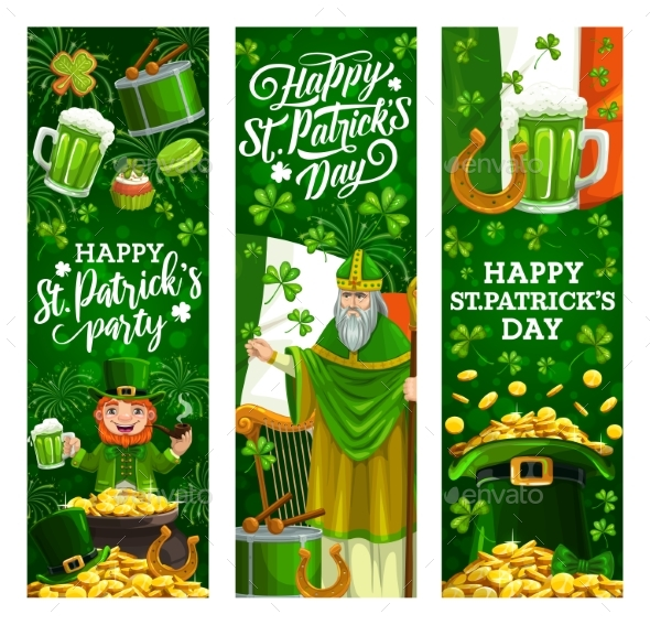 Happy Saint Patrick Day Irish Celtic Shamrock