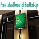 Poster Urban Elevator Lightbox Mock-Ups - GraphicRiver Item for Sale
