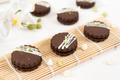 Circular chocolate sandwich biscuit cookies - PhotoDune Item for Sale
