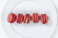 Red color french dessert macarons - PhotoDune Item for Sale
