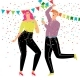 Couple Dancing Party - GraphicRiver Item for Sale