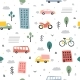 City Seamless Pattern Childish City Vector - GraphicRiver Item for Sale