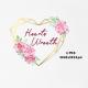 Watercolor Heart Valentine Wreath Boho Clipart - GraphicRiver Item for Sale
