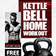 Kettlebell Home Workout Flyer Template - GraphicRiver Item for Sale
