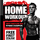 Home Workout Flyer Template - GraphicRiver Item for Sale