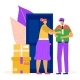 Post Mail Service Male Character Postman Postal - GraphicRiver Item for Sale