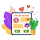 Online Dating Mobile Phone Application Remote - GraphicRiver Item for Sale
