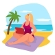 Tropical Relaxation Beach Front Side Cheerful - GraphicRiver Item for Sale