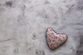 Red textured hearts hanging on gray background. - PhotoDune Item for Sale