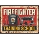Firefighters Training School Vector Banner - GraphicRiver Item for Sale