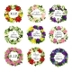 Funerary Round Frames Funeral Flower Wreath Set - GraphicRiver Item for Sale