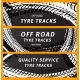 Tire Prints Tyre Tracks with Grunge Stained Spots - GraphicRiver Item for Sale