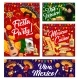 Viva Mexico Banners with Mexican Sombrero and Food - GraphicRiver Item for Sale