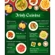 Irish Cuisine Vector Menu Template Ireland Meals - GraphicRiver Item for Sale