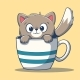 Little Cat In A Cup - GraphicRiver Item for Sale