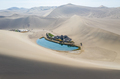 beautiful crescent lake from above in dunhuang - PhotoDune Item for Sale