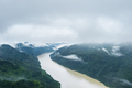 aerial view of beautiful fuchun river after rain - PhotoDune Item for Sale