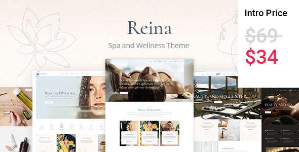 Reina – Spa and Wellness Theme
