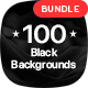 100 Abstract Black Backgrounds Bundle - GraphicRiver Item for Sale