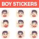 Boy Stickers Set - GraphicRiver Item for Sale