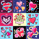 Valentines Day Backgrounds Set / Cards. Symbols of Love. Hearts, Flowers, Doves - GraphicRiver Item for Sale