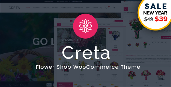 Review: Creta - Flower Shop WooCommerce WordPress Theme free download Review: Creta - Flower Shop WooCommerce WordPress Theme nulled Review: Creta - Flower Shop WooCommerce WordPress Theme