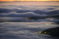 Banks of Fog roll over the hills at sunrise - PhotoDune Item for Sale