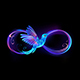 Infinity Symbol with Glowing Hummingbird - GraphicRiver Item for Sale