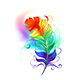 Rainbow Fluffy Feather - GraphicRiver Item for Sale