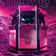 Retro Gaming Flyer 80s Synthwave World - GraphicRiver Item for Sale