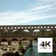 Aerial View of Roman Aqueduct Pont du Gard - VideoHive Item for Sale