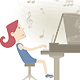 Playing the Piano - GraphicRiver Item for Sale