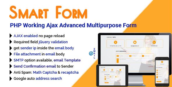 SmartForm - PHP Working Ajax Advanced Multipurpose Form