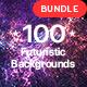 100 Futuristic Backgrounds Bundle - GraphicRiver Item for Sale