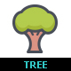 Tree & Natural Line with Color Icons - GraphicRiver Item for Sale