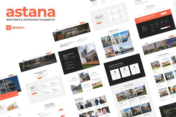 Astana - Real Estate & Architecture Elementor Template Kit
