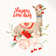 Love Llama - Valentines Day Watercolor Clipart - GraphicRiver Item for Sale