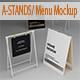 A-STANDS/ Menu Mockup - GraphicRiver Item for Sale