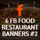 Facebook Food Restaurant Banners - GraphicRiver Item for Sale
