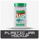 Plastic Square Jar Mock-Up - GraphicRiver Item for Sale