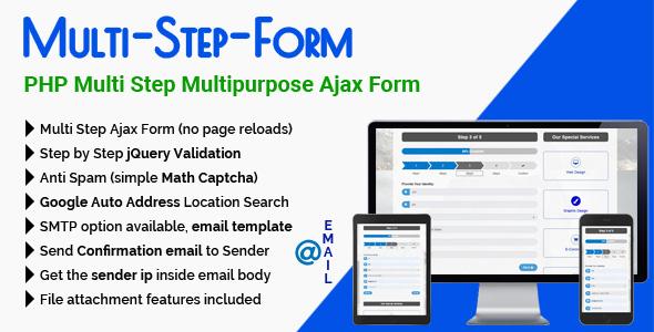 Multi-Step-Form - PHP Multi Step Multipurpose Ajax Form