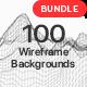 100 Wireframe Backgrounds Bundle - GraphicRiver Item for Sale