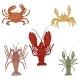 Vector Set of Cartoon Sea Animals - GraphicRiver Item for Sale