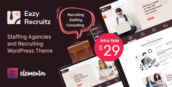 Eazy Recruitz – Staffing Agencies WordPress Theme