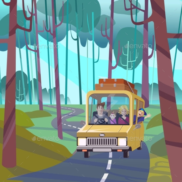 Family Holiday Vacation Road Trip Concept