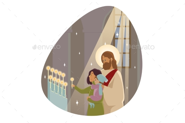Candlemas Religion Character Bible Concept