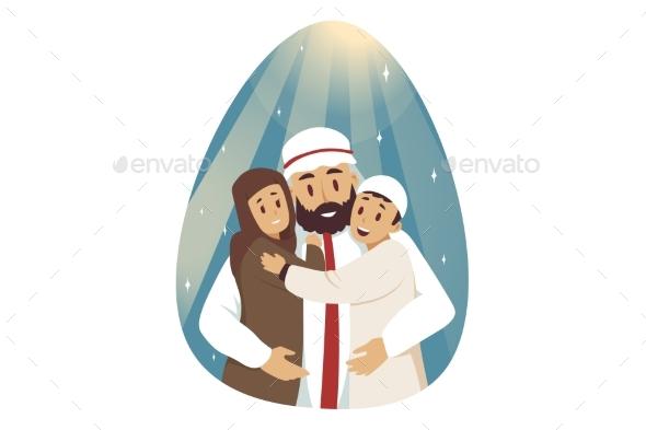 Love Fatherhood Family Concept