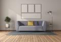 Purple sofa in a minimalist room - PhotoDune Item for Sale
