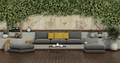Garden with ivy on old wall and gray sofa - PhotoDune Item for Sale
