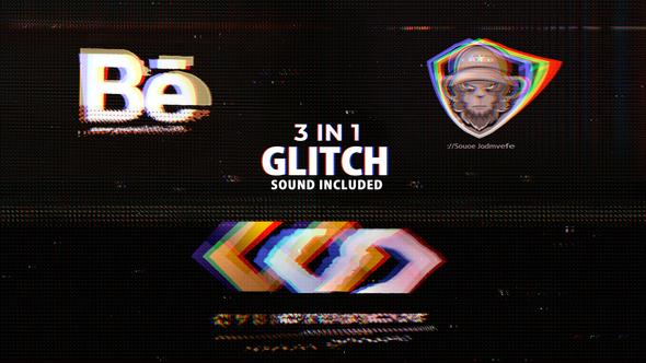 Glitch Logo 3in1